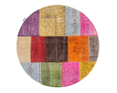 Speciallavet overdyed patchwork tæppe