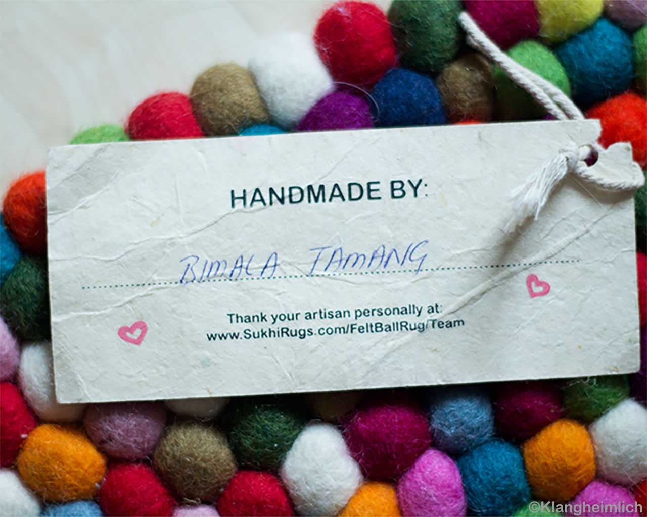 hand made artist name tag nepalese fresh multi color felt ball bedroom rugs