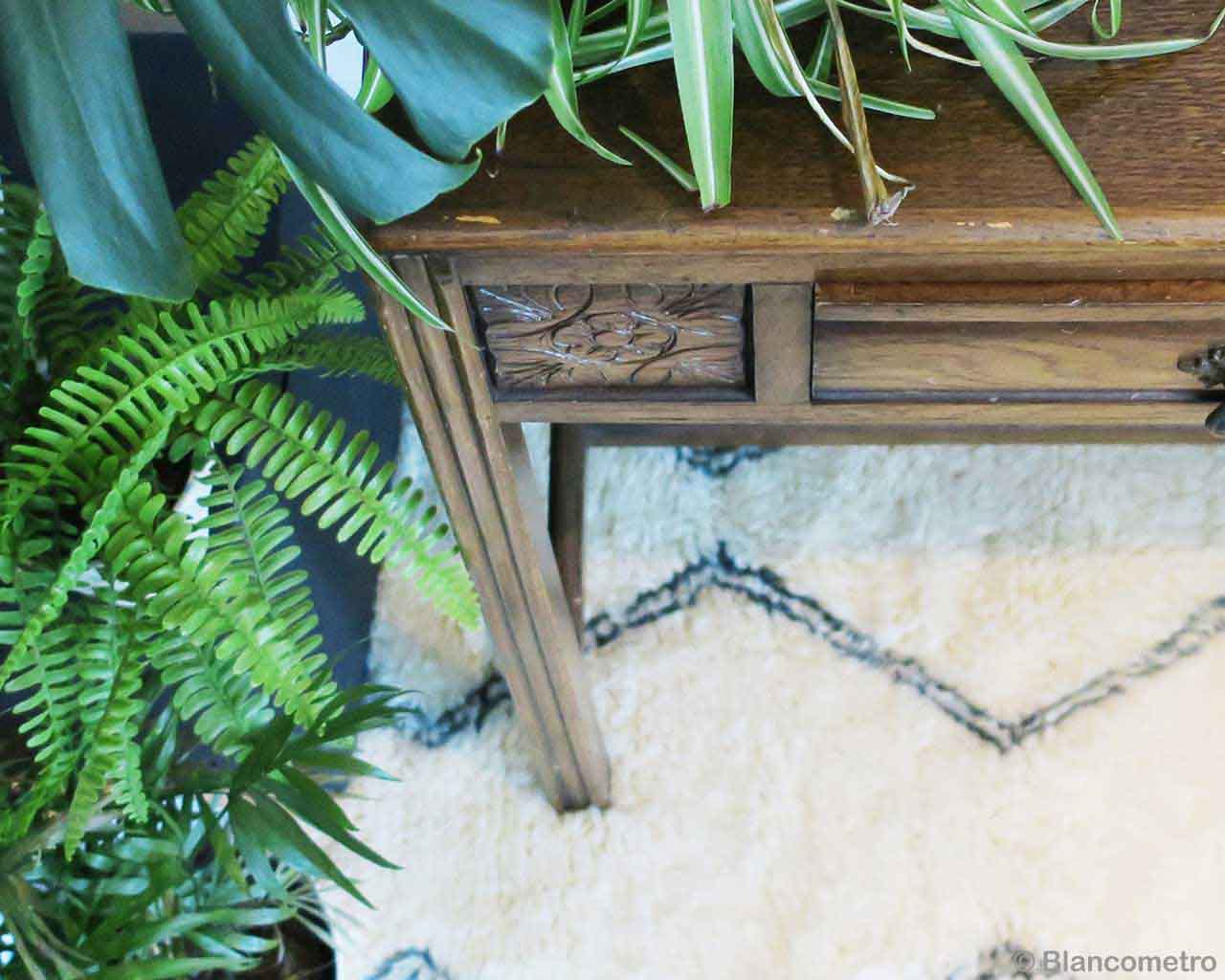 handmade nice brown chest with drawer african carpet