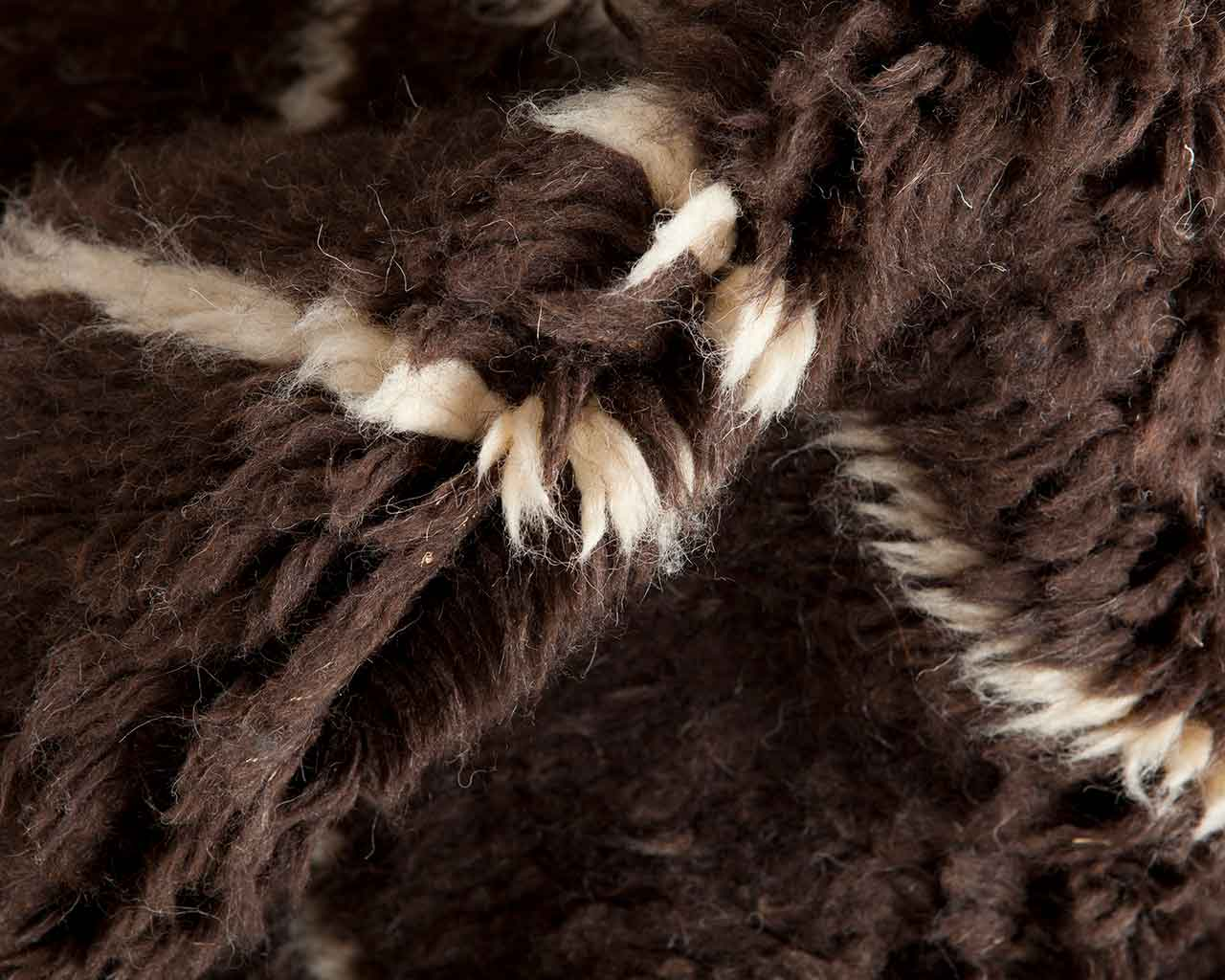 high quality brown wool carpet from morocco 1
