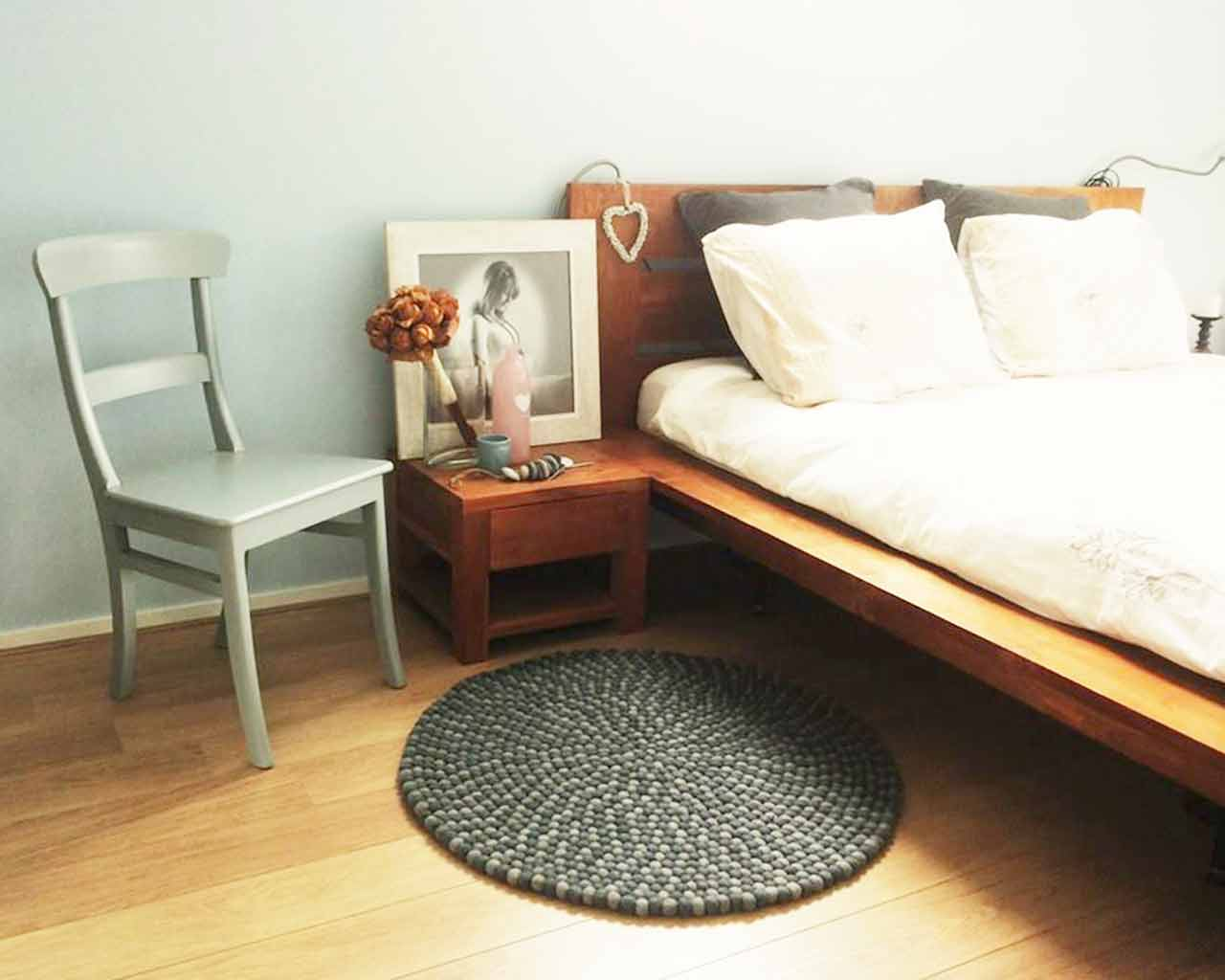 handmade soft rug for sleeping room