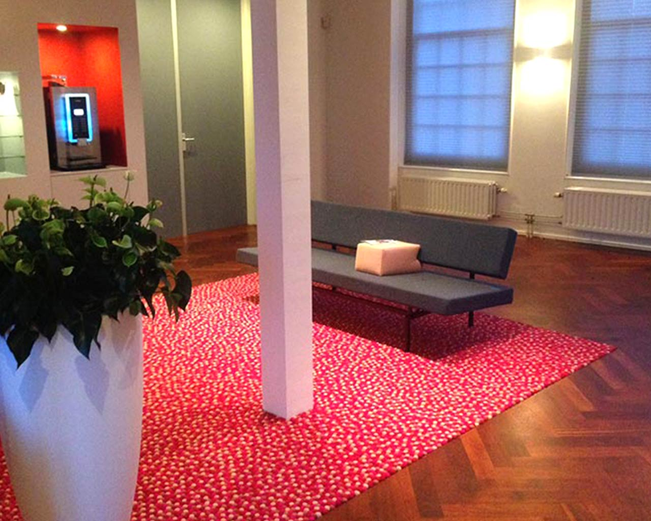 architect office rug coffee corner