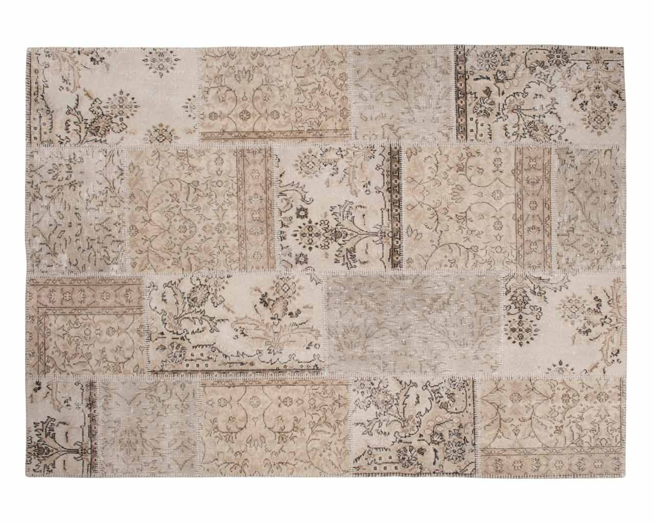 turkey patchwork carpet handmade white