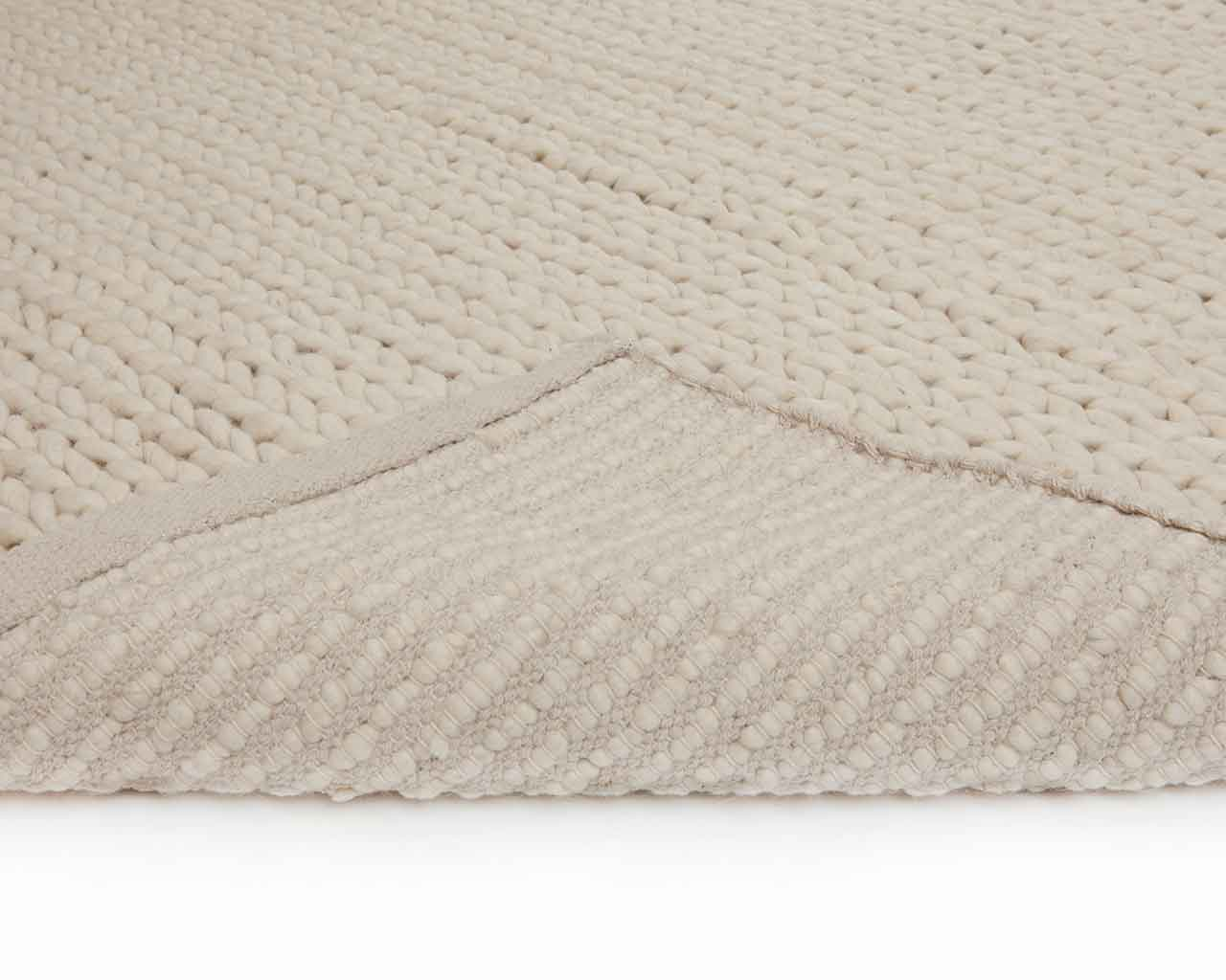 scandinavian designer carpet white wool 1