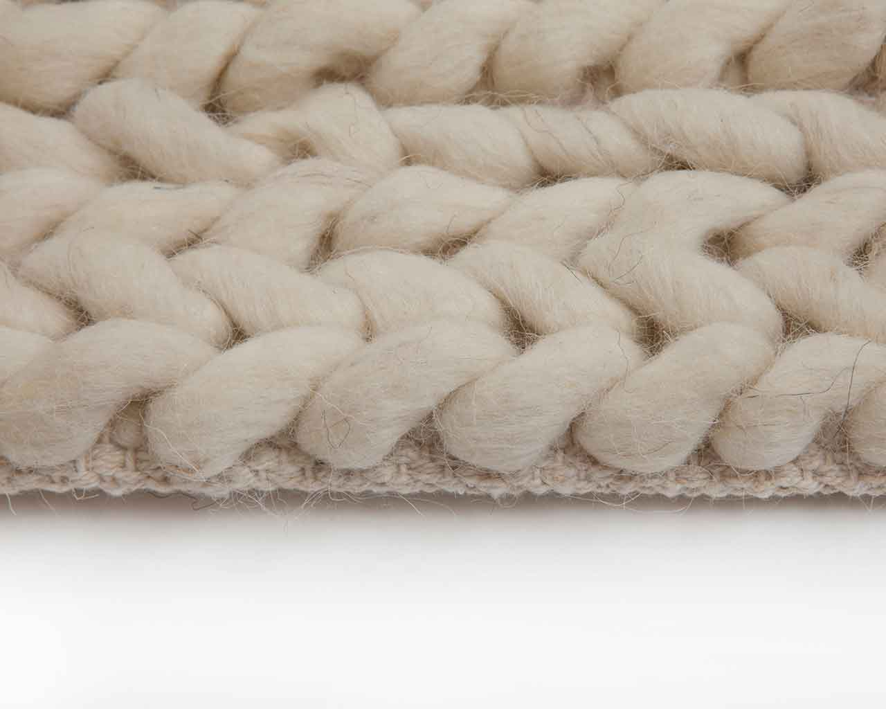 white braided wool carpet designer 1